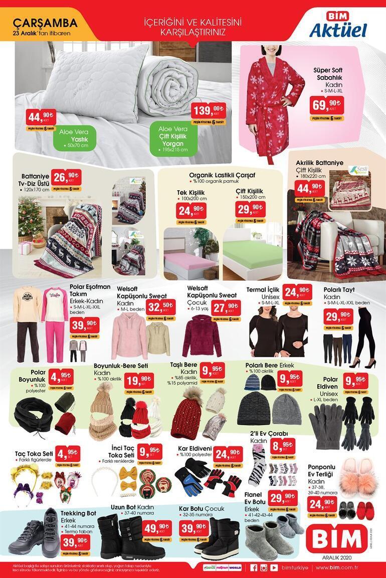 BİMde Cuma günü satışa sunulan aktüel ürünler Bugün satışa çıkıyor BİM 23 Aralık aktüel ürünler kataloğunda bu hafta neler var