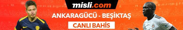 MKE Ankaragücü - Beşiktaş maçı Tek Maç ve Canlı Bahis seçenekleriyle Misli.com'da