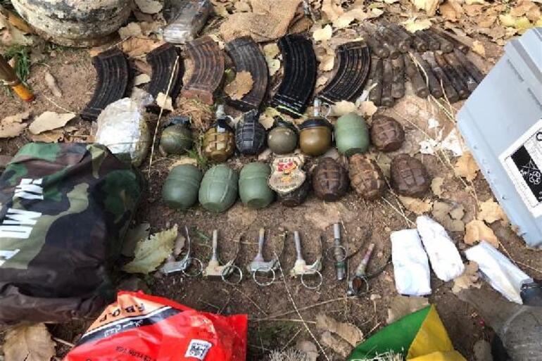 MSB: Pençe-Kaplan Operasyonunda PKKya ait mühimmat ele geçirildi