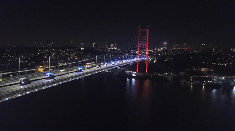 Ankaradan yola çıkan 61 ambulans İstanbula geldi