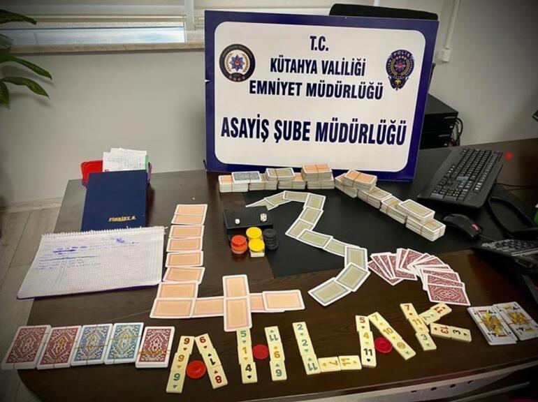 Kumar oynarken yakalanan 21 kişiye 66 bin TL ceza