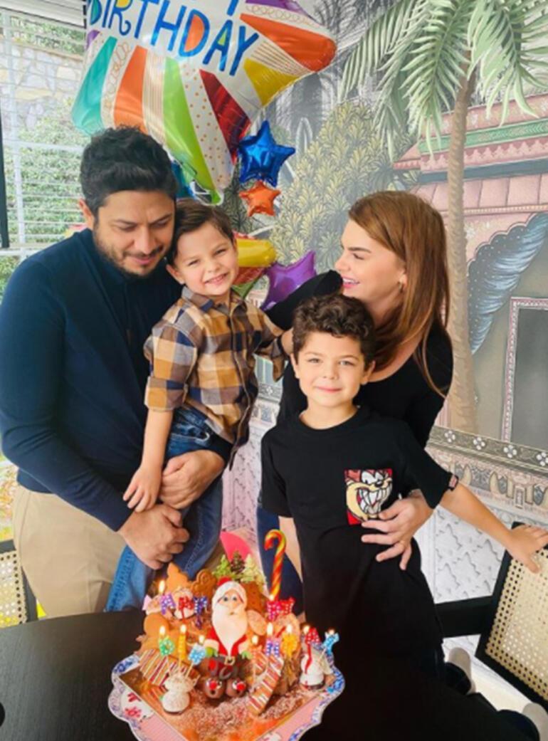 Pelin Karahandan evde doğum günü kutlaması