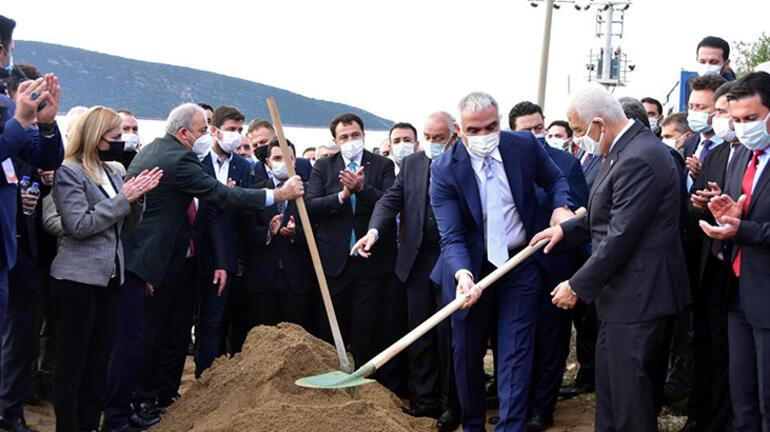 Bakan Ersoy, Bodrumun alt yapı ve kanalizasyon temelini attı