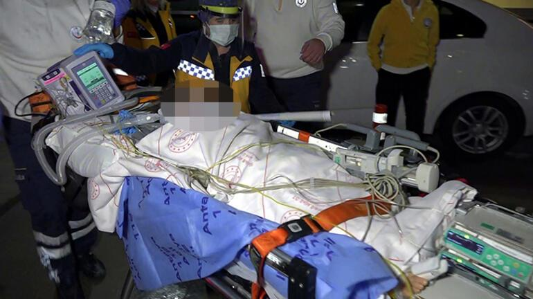 Ambulans uçak süt kazanına düşen Feride için havalandı