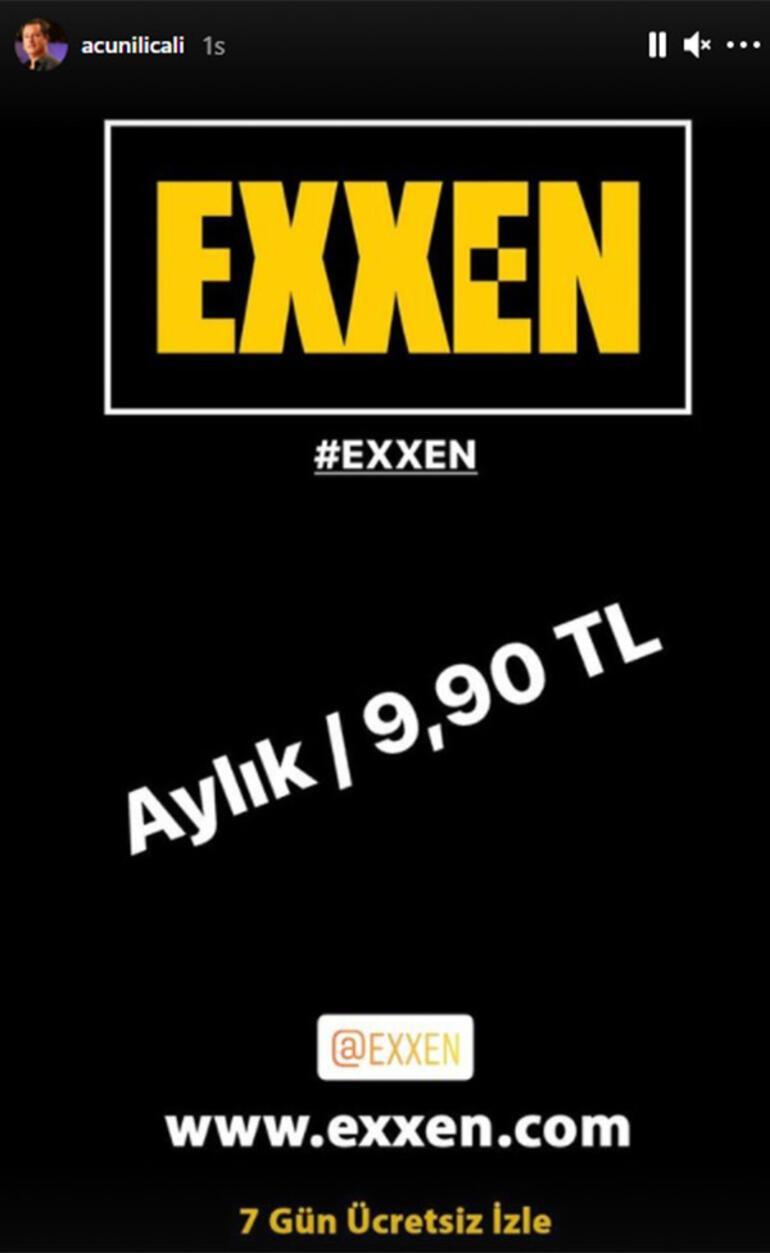 Acun Ilıcalı, Exxenin aylık ücretini açıkladı