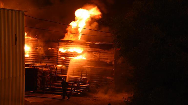 Bodrumda korkutan yangın Büyük çaplı hasar var...