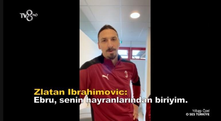 Zlatan Ibrahimovicten Ebru Gündeşe mesaj Senin hayranlarından biriyim