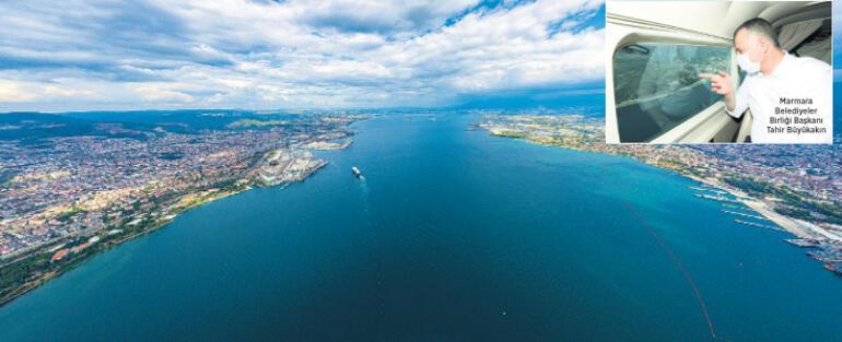 Marmara Denizi'ne havadan sıkı takip