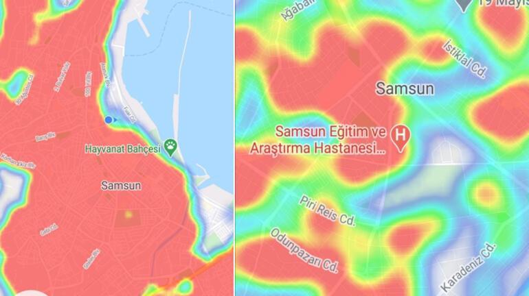 Samsunda risk haritası yeşile dönüyor