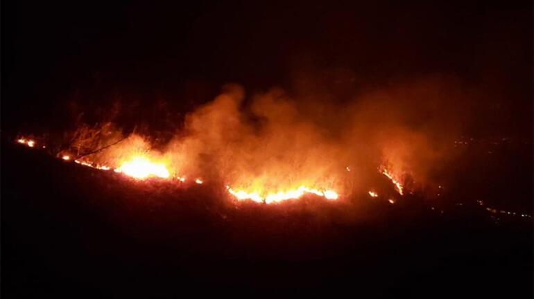 Trabzonda örtü yangını Ekipler oraya koştu