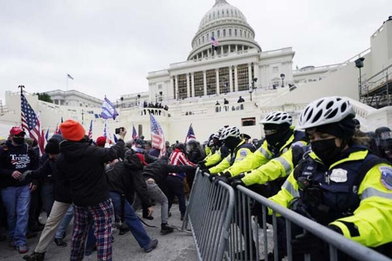 Son dakika: Trump fitili ateşledi ortalık savaş alanına döndü Kongreyi bastılar