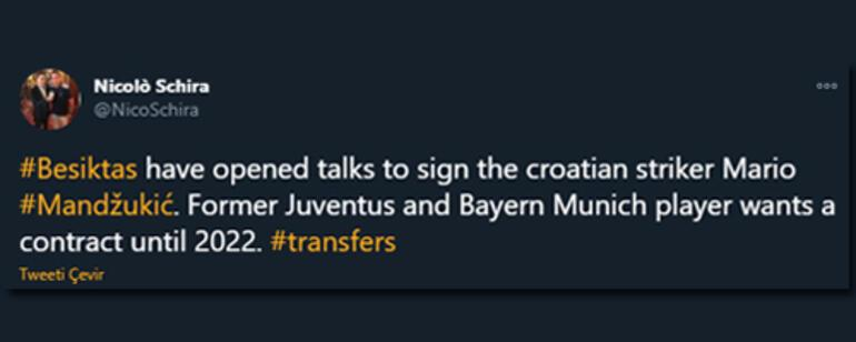 Beşiktaş Mario Mandzukic transferi için görüşmelere başladı