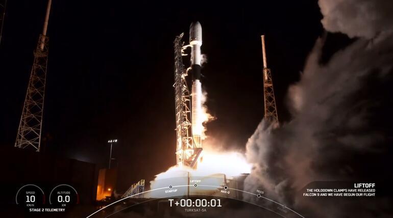Son dakika haberi: Tarihi an Türksat 5A uzaya fırlatıldı, ilk sinyal alındı