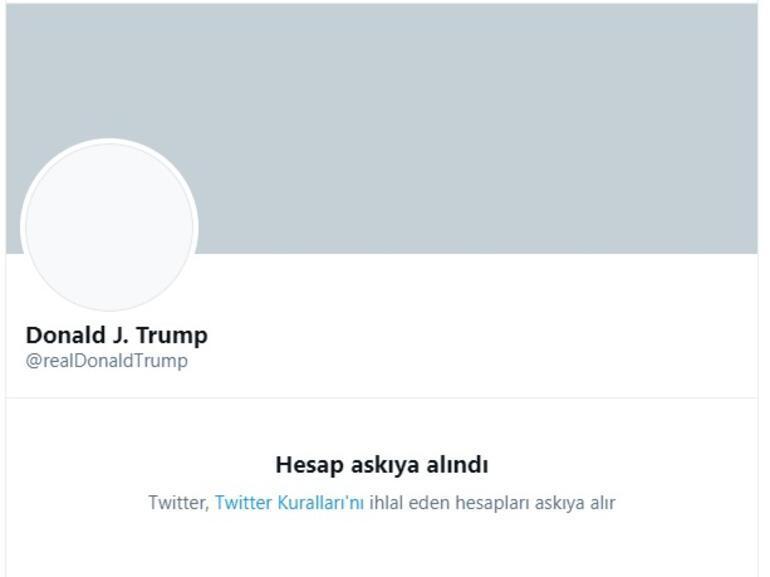 Son dakika Twitter, Trumpın hesabını kalıcı olarak askıya aldı