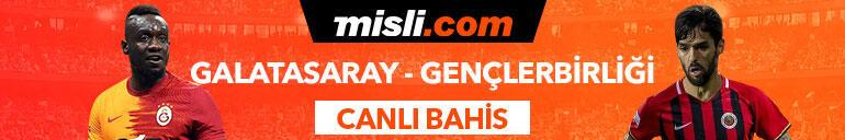 Galatasaray - Gençlerbirliği maçı Tek Maç ve Canlı Bahis seçenekleriyle Misli.com'da