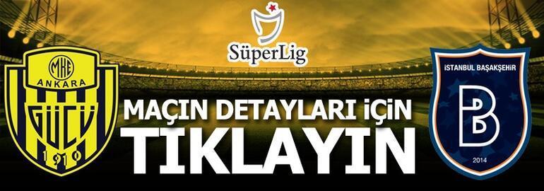 MKE Ankaragücü-Medipol Başakşehir: 1-2 (Maç Sonucu)