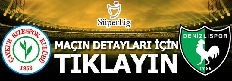 Çaykur Rizespor - Denizlispor: 1-1