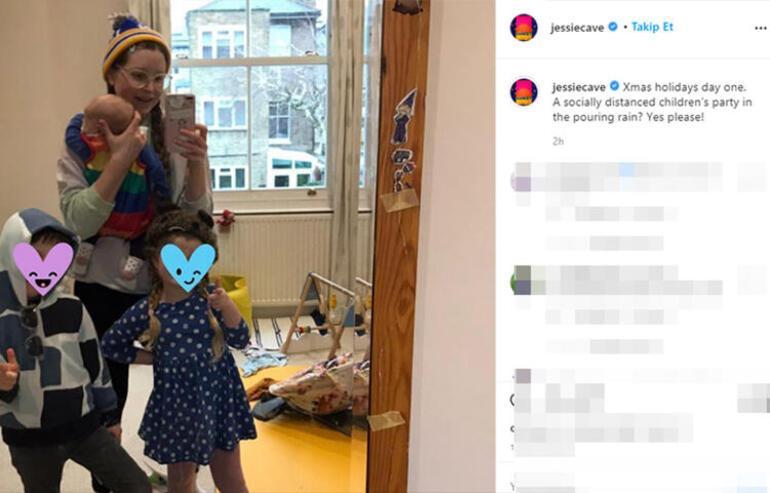 Jessie Cavein bebeği koronavirüsü yendi