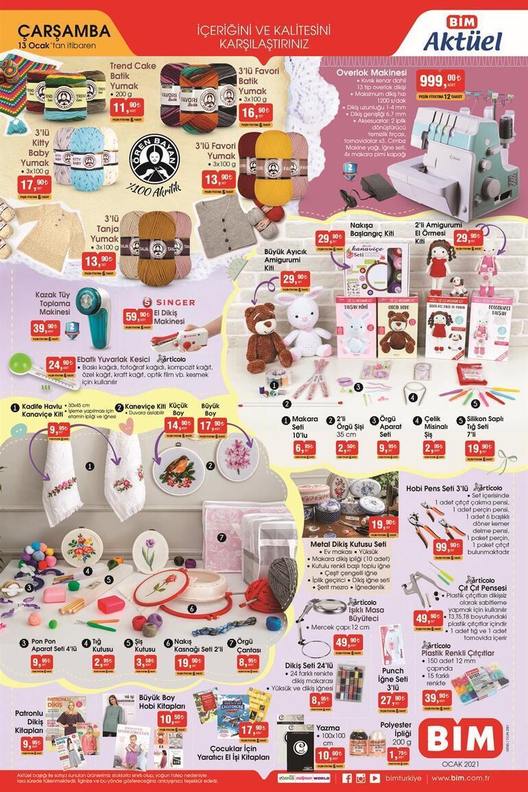 BİM 12-13 Ocak aktüel kataloğu yayımlandı BİMde bu hafta hangi indirimli ürünler var
