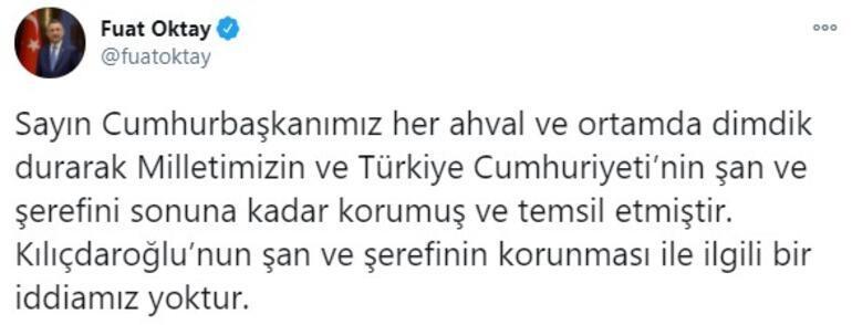 Cumhurbaşkanı Yardımcısı Oktaydan Kılıçdaroğlunun sözlerine tepki