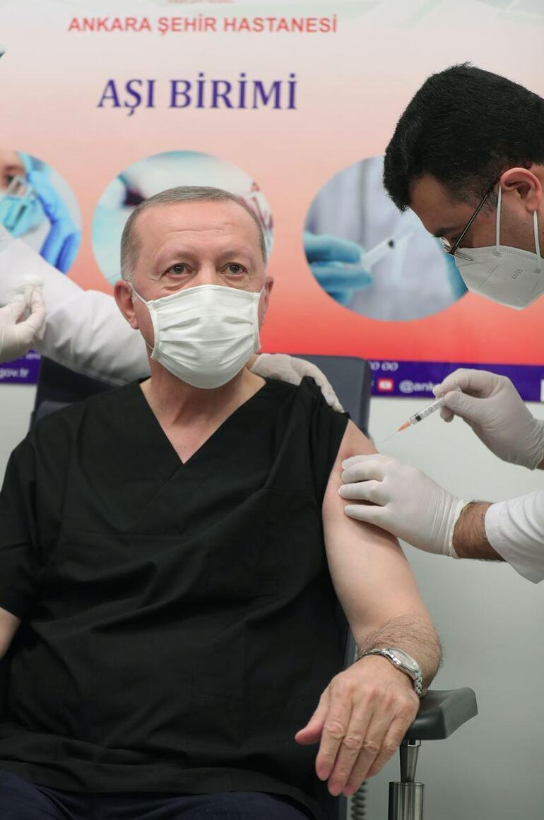 Son dakika haber... Cumhurbaşkanı Erdoğan koronavirüs aşısı oldu