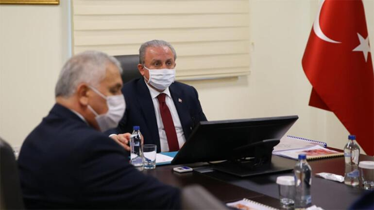 TBMM Başkanı Mustafa Şentop, Tekirdağ Valisi Yıldırımı ziyaret etti