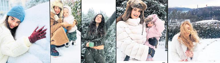 Ünlülerden kar pozları