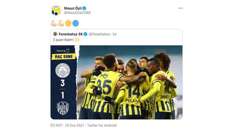 Son dakika - Mesut Özilden Fenerbahçe galibiyeti paylaşımı