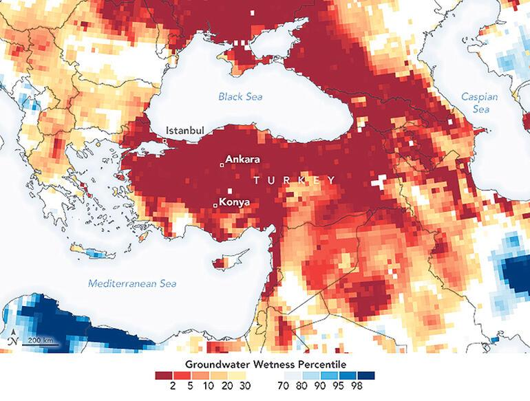 Drought Warning to Turkey From Nasa!