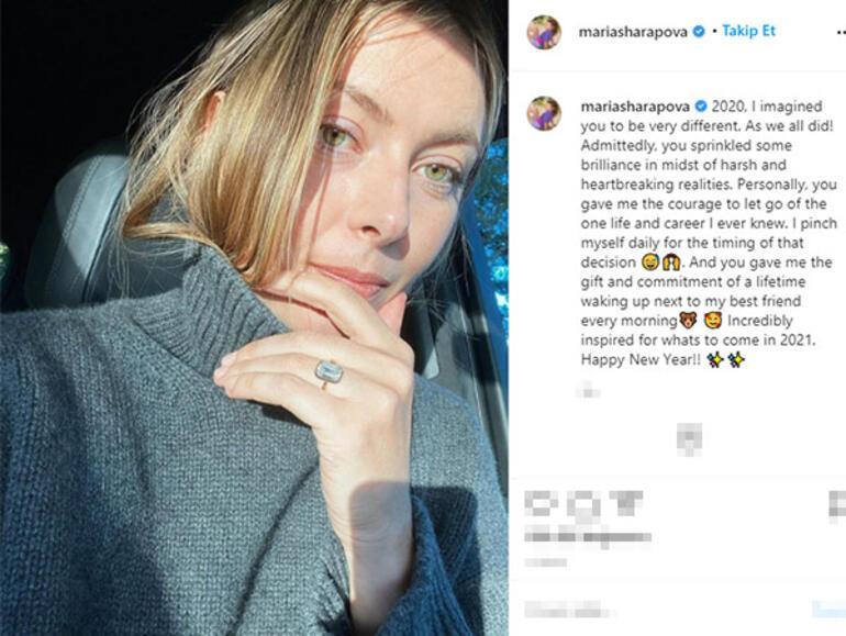 Maria Sharapovanın 400 bin dolarlık nişan yüzüğü