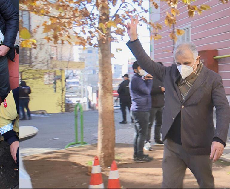 Son dakika HDPli milletvekili evlat nöbetindeki ailelere zafer işareti yaptı, gerginlik yaşandı