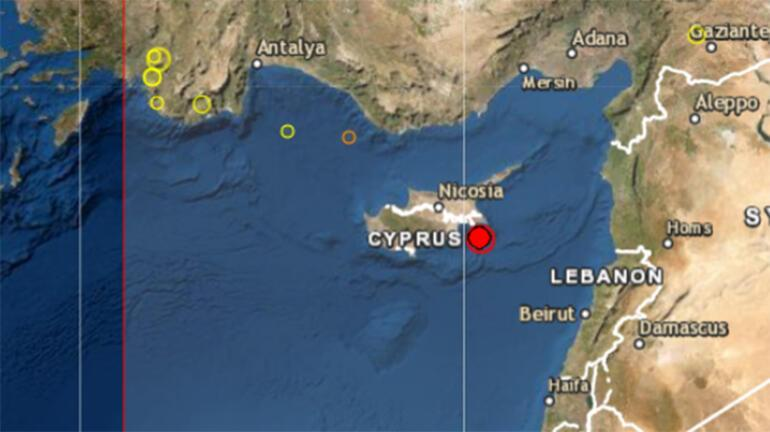 Son dakika Kıbrısta şiddetli deprem