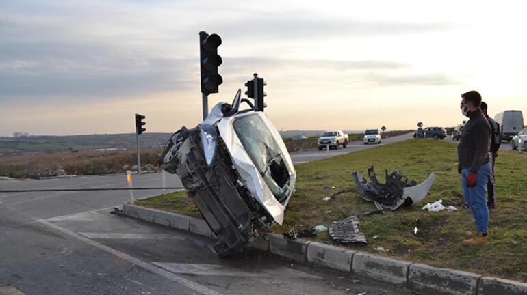 Tekirdağda feci kaza: 5 yaralı var