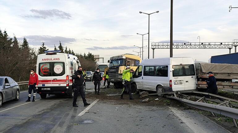 Anadolu Otoyolunda zincirleme kaza Trafik kilitlendi