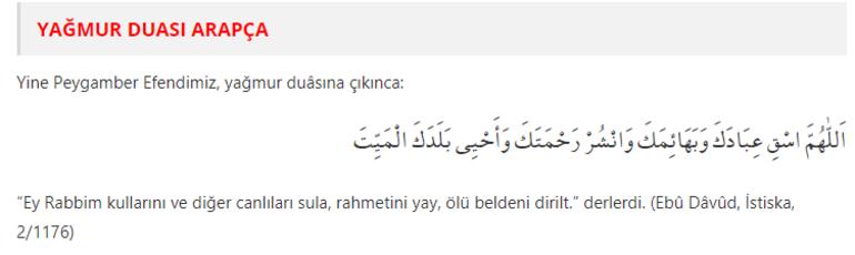Yağmur Duası Nasıl Yapılır Yağmur Duası Türkçe Okunuşu Ve Arapça Yazılışı