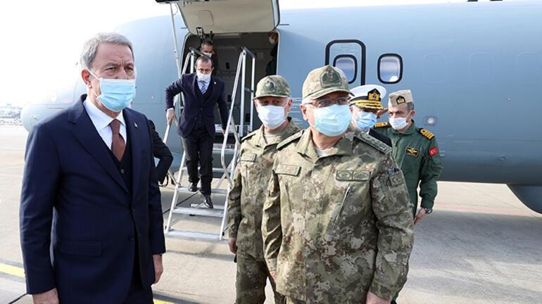 Son dakika... P-72den ilk görev Milli Savunma Bakanı Akar bizzat yerinde inceledi