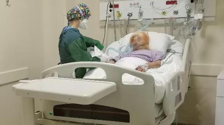 Son dakika: Koronavirüs hastasının hemşirenin eline yazdığı not tüyler ürpertti