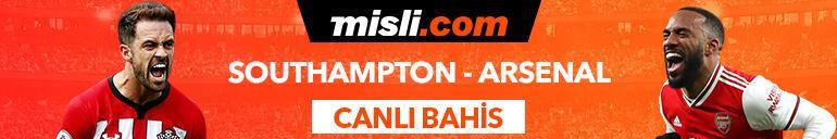 Southampton - Arsenal maçı Tek Maç ve Canlı Bahis seçenekleriyle Misli.com'da