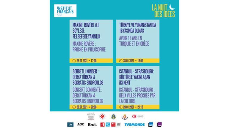 Institut françaisden Fikirler Gecesinde 24 saat canlı yayın