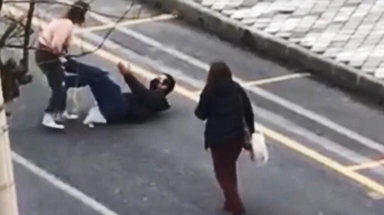 Genç kadın önce bıçakla saldırdı, sonra otomobile zarar verdi