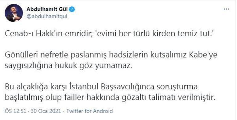 Bakan Gül: Boğaziçi Üniversitesindeki alçaklığa karşı soruşturma başlatıldı