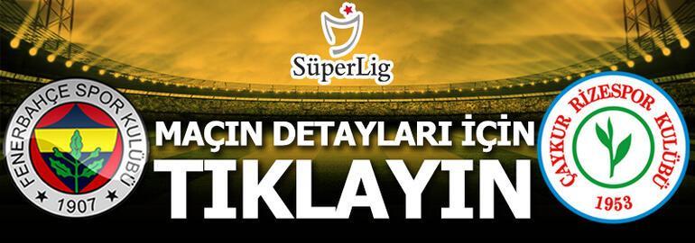 Fenerbahçe - Rizespor: 1-0