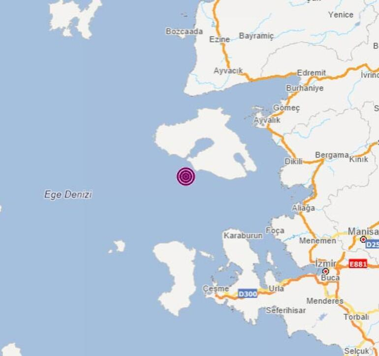 Son dakika İzmir açıklarında korkutan bir deprem daha
