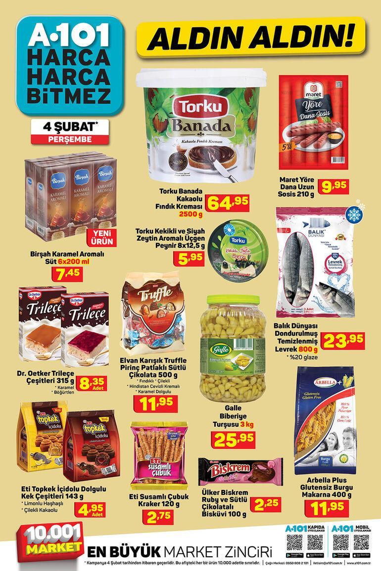 A101 katalog 4 Şubat: Bu hafta A101 aktüel ürünlerde neler var İşte, A101 kampanyalı ürünler...