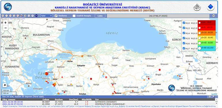 Son depremler listesi 6 Şubat AFAD - Kandilli | Deprem mi oldu Bugün deprem oldu mu