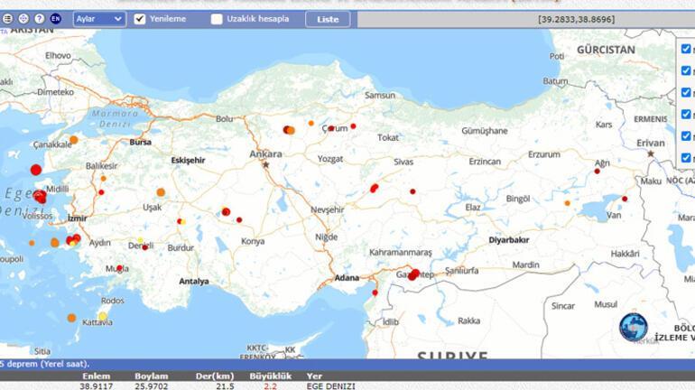 Az önce deprem mi oldu 11 Şubat nerede deprem oldu AFAD - Kandilli son depremler
