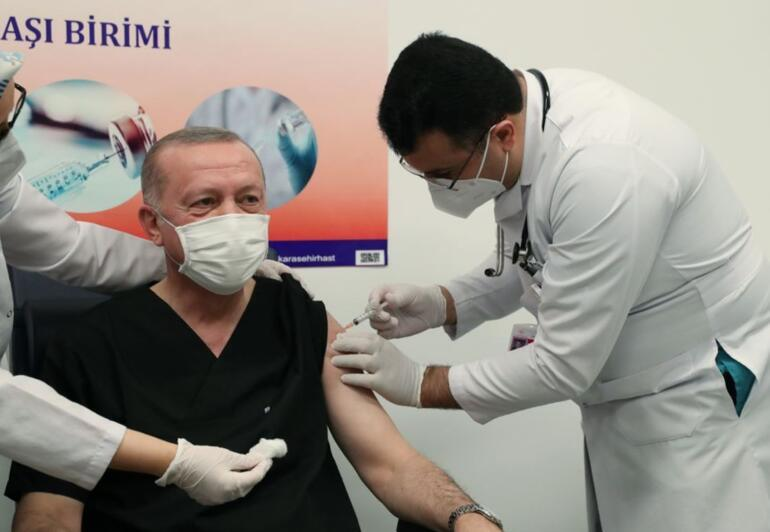 Son dakika... Cumhurbaşkanı Erdoğan koronavirüs aşısının ikinci dozunu yaptırdı