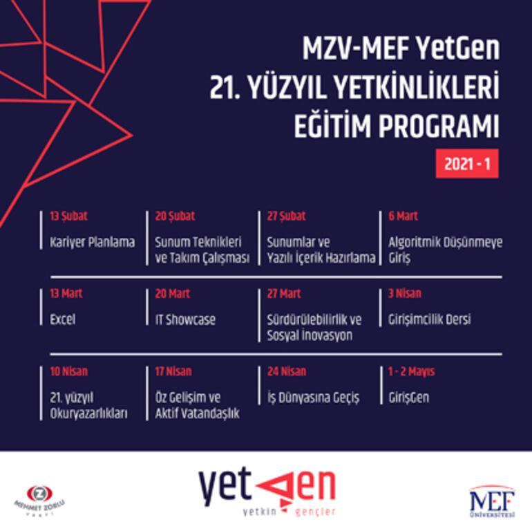 MZV-MEF YetGen 6. yıl eğitimlerine başlıyor