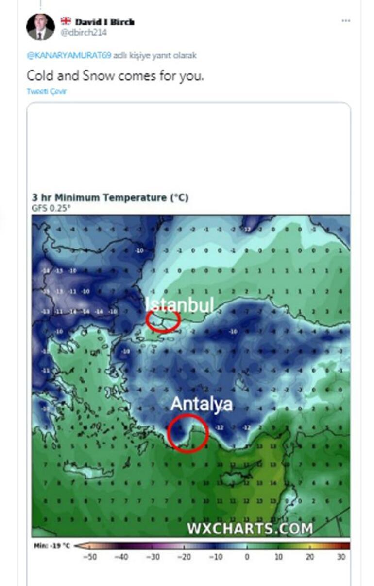 Son dakika İngilizlerin de gözü Türkiyede... Oraya bile kar yağacak