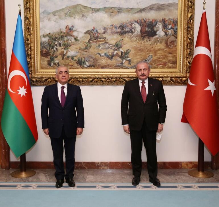 TBMM Başkanı Şentop, Azerbaycan Başbakanı Esedovu Mecliste ağırladı